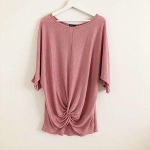 Tops - Pink knit shirt XL